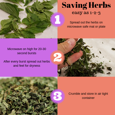 You can save almost any herb in three simple steps.