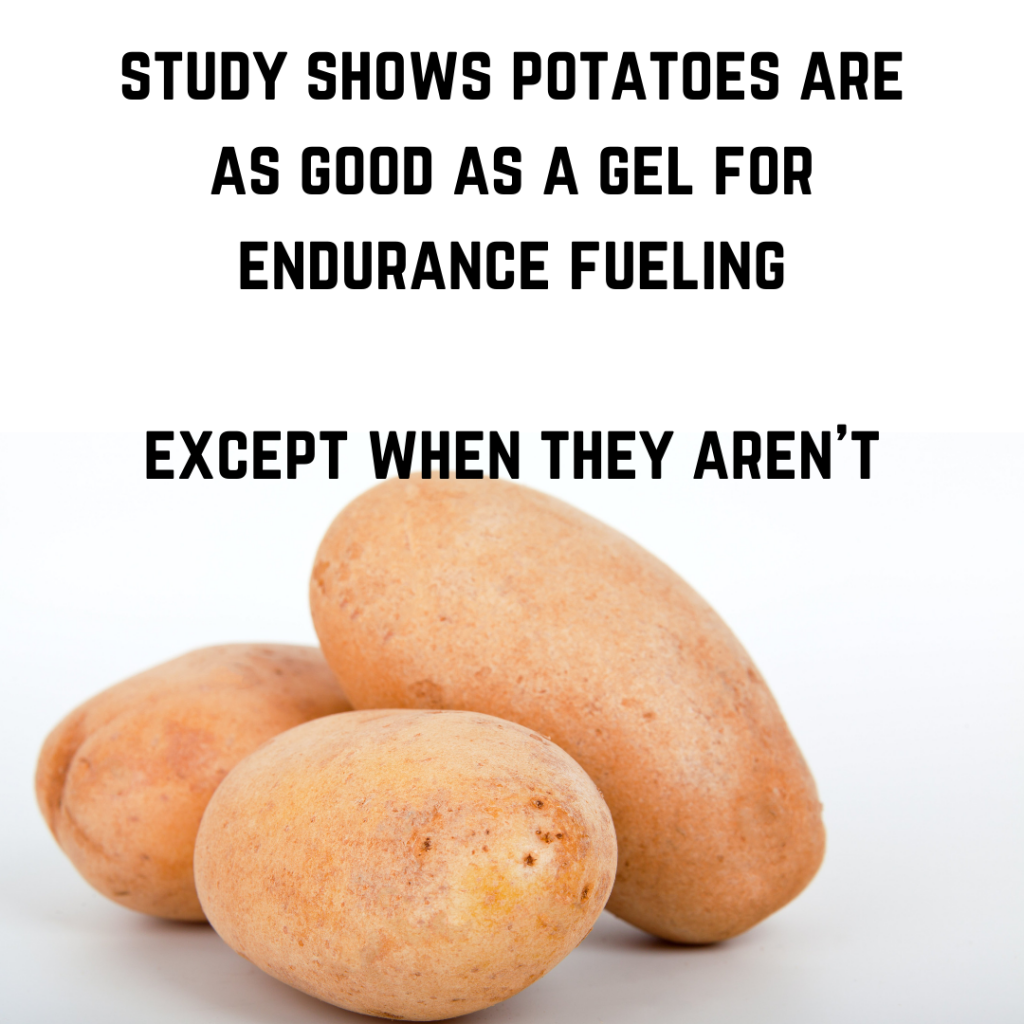 Should you eat potatoes during training