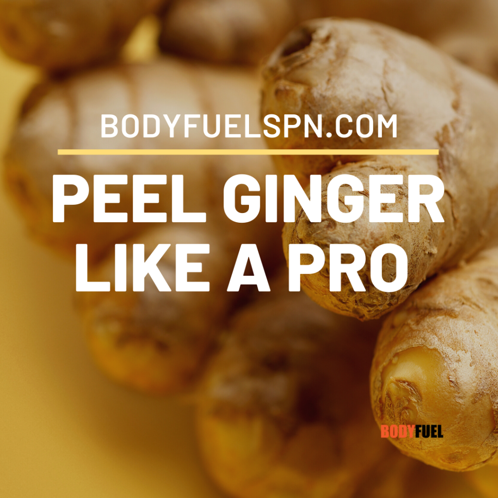 How to peel ginger like a pro